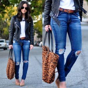 Aritzia Rag and Bone Preston Distressed Jeans Blue